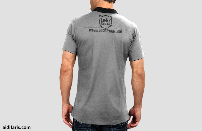 Custom Design of management collar-t for Leto Krush Team