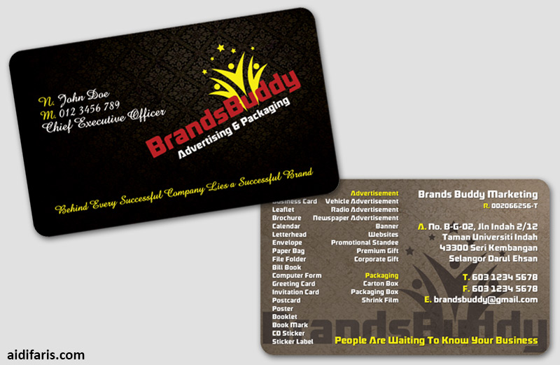 advertising packaging business card