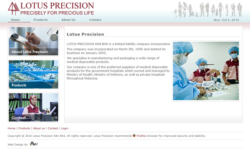 lotus precision, medical products supplier