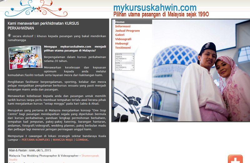 mykursuskahwin pre-wedding courses